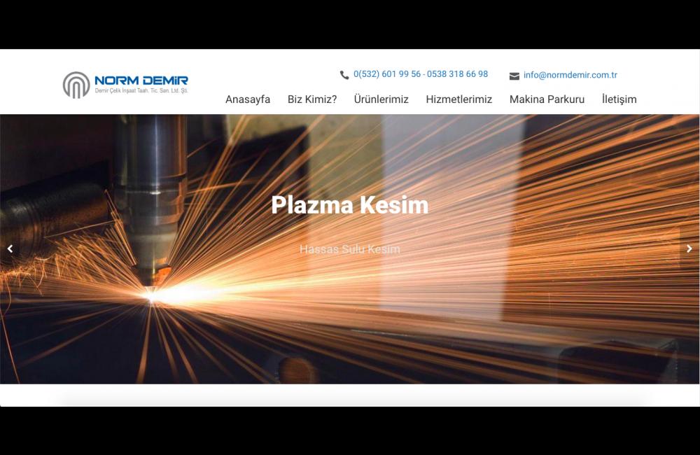 Norm Demir Çelik & Lazer Kesim, Web Programla ekibimiz tarafından 4 iş günü içerisinde teslim edildi. ProjemizdePHP, MYSQL, JQUERY, JAVASCRİPT, CSS3, HTML